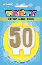 50th Anniversary Gold Candle